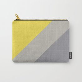 Grey and Yellow Line Design Solid Colors 2021 Color of the Years and Accent Hue Carry-All Pouch
