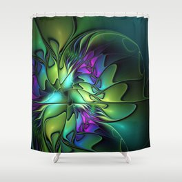 Colorful And Abstract Fractal Fantasy Shower Curtain