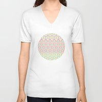 triangles V-neck T-shirts featuring Triangles by Shelly Bremmer