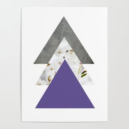 Ultra Violet Blossoms Arrows Poster