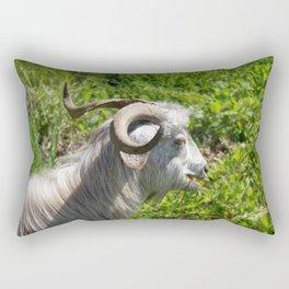 Side View of A Billy Goat Grazing Rectangular Pillow