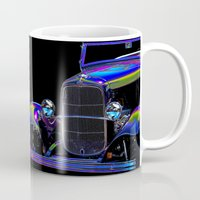 ford Mugs featuring Ford Abstract by Beach Bum Pics