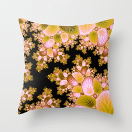 Crack in the Cosmic Tree Fractal Throw Pillow