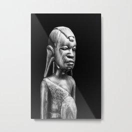 Masai Figure Metal Print
