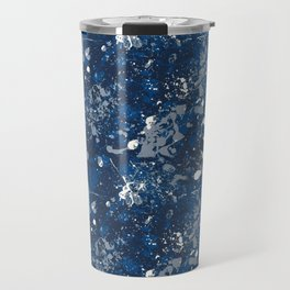 Blue Splatter Pattern Travel Mug