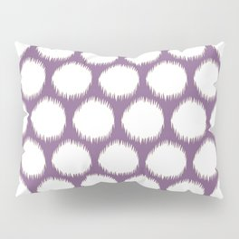 Violet Asian Moods Ikat Dots Pillow Sham