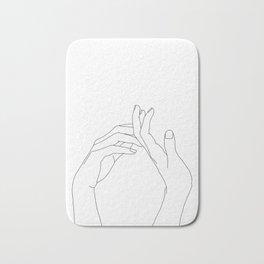 Hands line drawing illustration - Abi Badematte