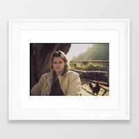 actor Framed Art Prints featuring actor brendan miller by Beau Pollock