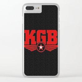 Soviet KGB Logo Clear iPhone Case