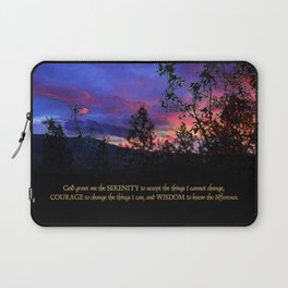Serenity Prayer Spring Sunrise Laptop Sleeve