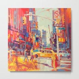 NYC Streets Metal Print