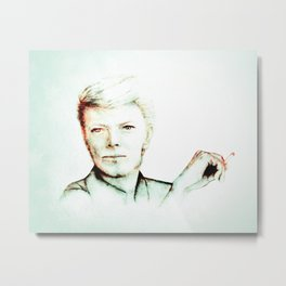 David Bowie Starman with Ciggy 3 Metal Print