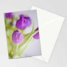 Tulipanes morados.  Stationery Cards