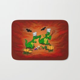 Today I will cook , Dragons - Happy Halloween ! Bath Mat
