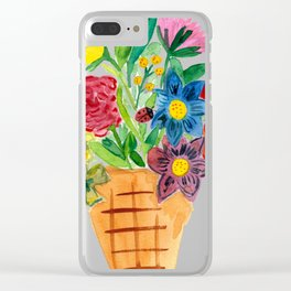 Flower Cone Clear iPhone Case