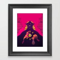 Mystic Bitcoin Framed Art Print