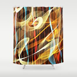 Footlights Shower Curtain