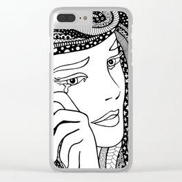 Crying girl. Roy Lichtenstein. Clear iPhone Case