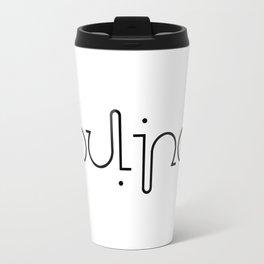 OULIPO ambigram Travel Mug