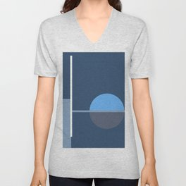Abstract blue series - 9 Unisex V-Neck