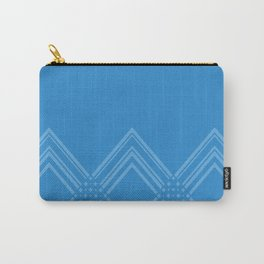 Abstract geometric pattern - blue. Carry-All Pouch