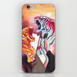 DUELING TIGERS iPhone Skin