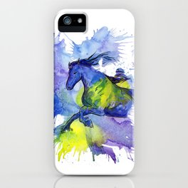 Watercolor and Ink Horse iPhone Case
