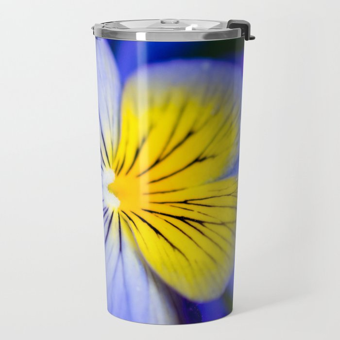 Pansy Close-up Square Travel Mug