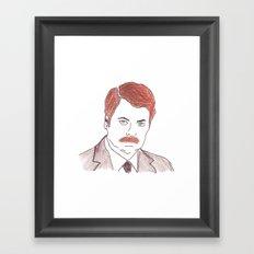 Ron Swanson  Framed Art Print