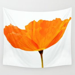 One And Only - Orange Poppy White Background #decor #society6#buyart Wall Tapestry