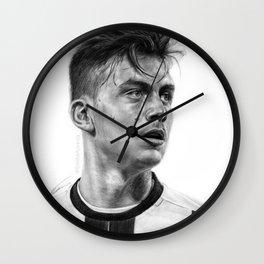 Paulo Dybala Pencil Drawing Wall Clock