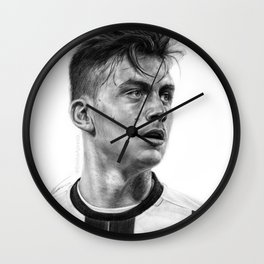 Paulo Dybala Pencil Drawing Wall Clock
