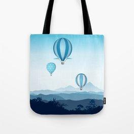 Hot air balloons - blue mountains Tote Bag