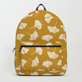 Ginkgo Biloba | Yellow Background Backpack