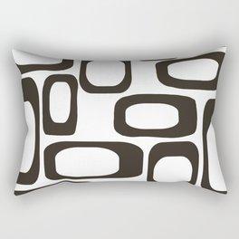 Mid Century Modern Shapes Black And White #society6 #buyart Rectangular Pillow