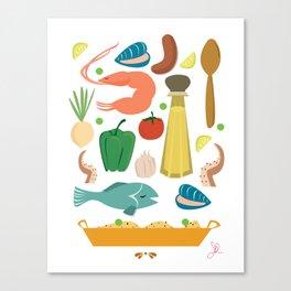 Paella Canvas Print