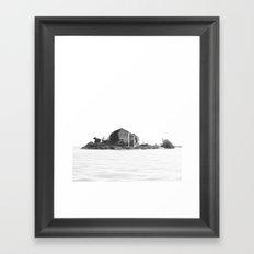 Island BW Framed Art Print