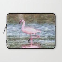 Lesser Flamingo Watercolor Laptop Sleeve