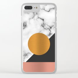 Marble & metals Clear iPhone Case