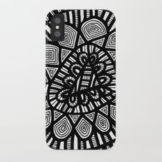 Black and White Doodle 7 iPhone X Slim Case