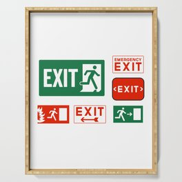 Evacuation Day Exit Sign Serving Tray