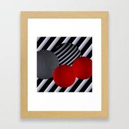 shining geometry Framed Art Print