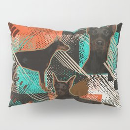 Dobermann - Doberman Pinscher Abstract Pillow Sham