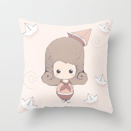 Sailor Girl Throw Pillow