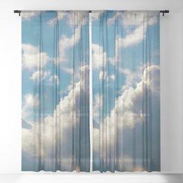 Cloud Pillows Sheer Curtain
