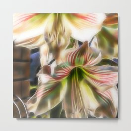 Abstract amaryllis in a garden Metal Print
