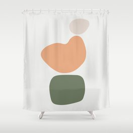 Abstract Shape Series - Formation Shower Curtain