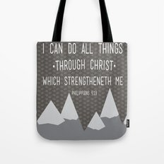 I CAN // Philippians 4:13 Tote Bag
