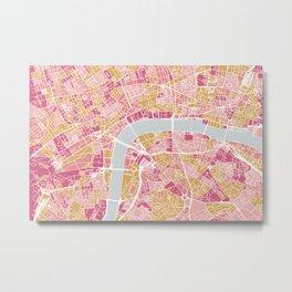 Colorful London map Metal Print