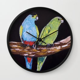 Golden-Shouldered Parrot (Psephotus chrysopterygius) Wall Clock